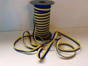 Ribbon with Swedish Flag Colors