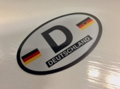 Germany Oval Flag Decal