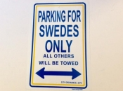 Parking for Swedes Only