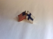 USA and Finland-Lapel Pin with Crossed Flags