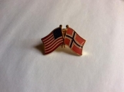 USA and Norway-Lapel Pins with Crossed Flags