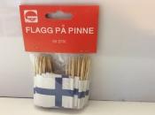 Finnish Flags on Toothpicks