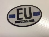 Europe Oval Flag Decal