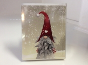 Red Hat Nisse/Tomte/Tonttu Cards
