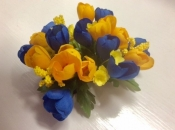 Yellow and Blue Candle Ring