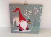 God Jul Nisse/Tomte/Tonttu Ceramic Tile