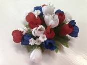 Red/White/Blue Candle Ring