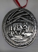Nativity Scene-Norwegian Pewter, 2""