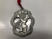"""Gal with Wheat--Swedish Pewter, 2"""""""