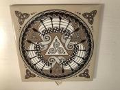 Three Viking Ships, Ceramic Tile