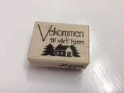 Velkommen to our Home Rubber Stamp