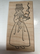 Large St. Lucia Rubber Stamp