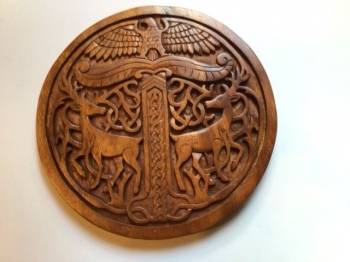 Deer and Eagle Carving